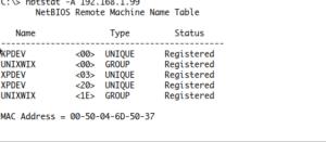 Nbtscanner - NetBIOS scanner windows and linux